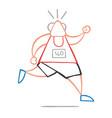 cartoon old athlete man running vector image