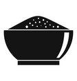 chili pepper bowl icon simple style vector image vector image