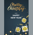christmas black poster background design template vector image vector image