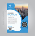 corporate business brochure template vector image