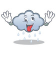crazy rain cloud character cartoon vector image vector image
