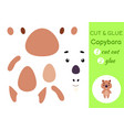 cut and glue paper little capybara kids crafts vector image vector image