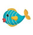 cute fish pet icon vector image vector image