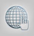earth globe with cursor blue icon vector image vector image
