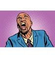 Emotional strong black man vector image vector image