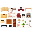 furniture furnishings design of living-room vector image