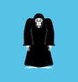 grim reaper sad death depression skeleton in vector image