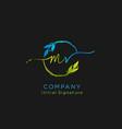 initial m r beauty monogram and elegant logo