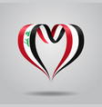 iraqi flag heart-shaped ribbon vector image vector image