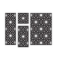 islamic arabic laser cut pattern decorative panel vector image vector image