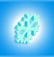 isometric geometric snowflake vector image