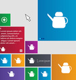 Kettle Icon sign buttons Modern interface website vector image vector image