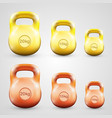 kettlebell set color vector image