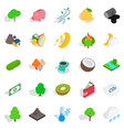 living planet icons set isometric style vector image vector image