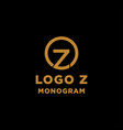 luxury initial z logo design icon element isolated vector image vector image