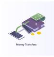 money transferdigital payment or online cashback vector image