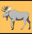 moose flat style profile vector image vector image