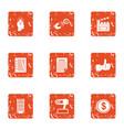 movie idea icons set grunge style vector image vector image