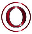 omicron greek letter vector image vector image