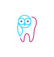 open late dental care service tooth with owl vector image vector image