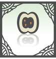 outline apple slice fruit icon Modern logo and vector image vector image