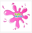 Pink Splash on white background eps10 vector image vector image