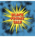 Pop Art Black Friday Sale Banner vector image vector image