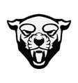 puma head sign design element for sport team logo vector image vector image