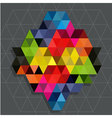 Rainbow triangles with line water mark background vector image vector image