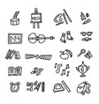 school icons back to school hand drawn doodle vector image vector image