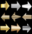 Set of Metal Arrows EPS10 vector image
