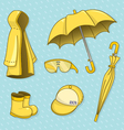 Set of rainy day vector image