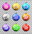 snowflakes decoration christmas tree new year ball vector image