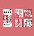 social media banner template for marketing promo vector image vector image