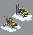 stationary snow conveyor is broken isolated on vector image vector image