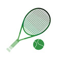 tennis rocket and ball icon vector image vector image