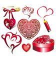 valentine set of elements vector image vector image