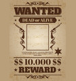 vintage wanted western poster with blank space for