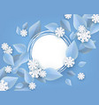 winter natural banner for vector image vector image