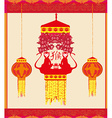 year of monkey design for Chinese New Year vector image vector image