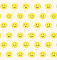 yellow smile pattern design background vector image vector image