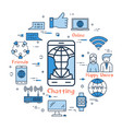 blue round chatting concept vector image