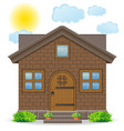 small country house vector image