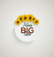sunflower background sale vector image