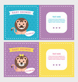 Baby shower invitation card templates for baby boy vector image