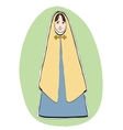 Mary the mother of Jesus Christian Christmas vector image