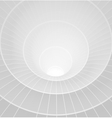 Abstract 3d white spiral tunnel vector image vector image