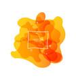abstract form fluid liquid design liquid vector image vector image