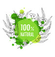 advertising natural cosmetics sale promotion vector image