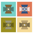 assembly flat icon technology camcorder vector image vector image